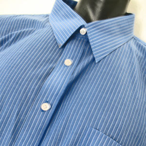 Stafford Performance Dress Shirt  Oxford Blue Size